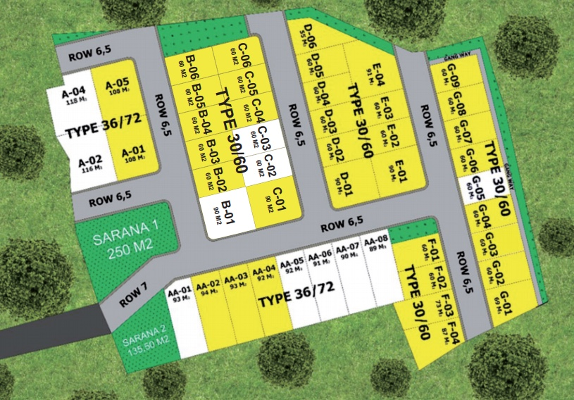 Site Plan Veda Smart and Green Village